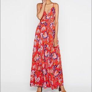 Express Floral Cut Out Maxi Dress